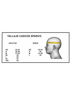 Tallaje cascos Sparco