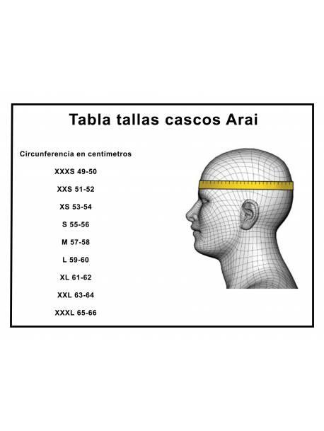Tallaje Cascos Arai