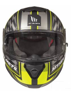 Casco MT Thunder 3 SV Isle Of Man A3 Matt Black/ Fluor Yellow