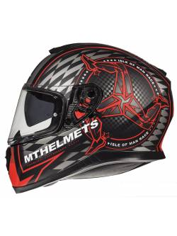 Casco MT Thunder 3 SV Isle Of Man B5 Matt Red
