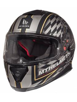 Casco MT Thunder 3 SV Isle Of Man Matt Black- Gold