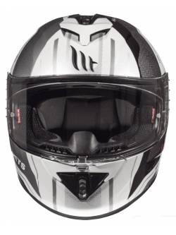 Casco MT Rapide Duel D7 Gloss Pearl Silver