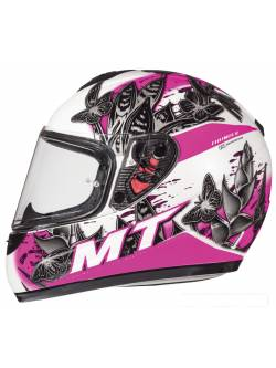 Casco MT Thunder Infantil Breeze D8 Rosa Perla Brillo